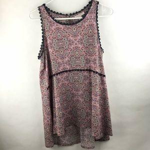 Lauren Conrad high low sleeveless tunic